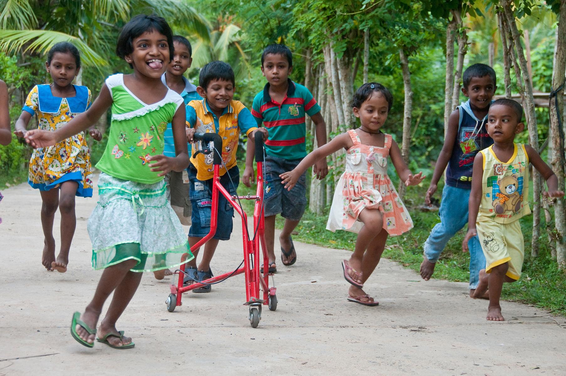 Liliane Fonds Mudith uit Sri Lanka