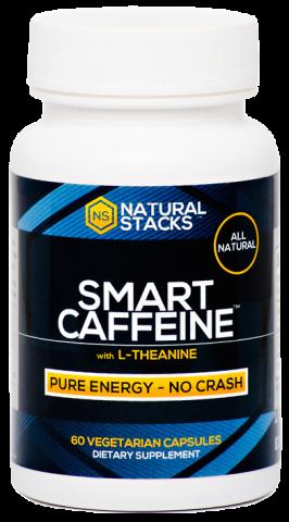 Natural Stacks - Cafeïne - Smart Caffeine - 60 vegetarische capsules