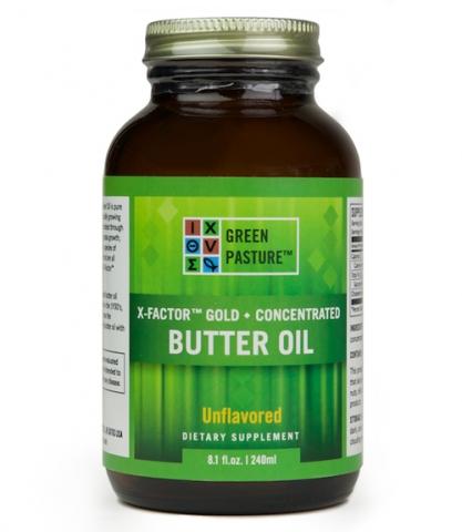 Green Pasture - High Vitamin Boterolie - X-Factor gold - Gel - 240 ml