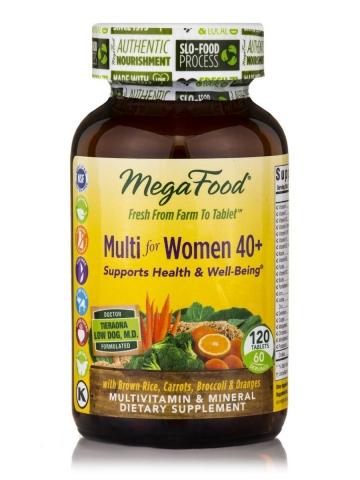 Natuurlijke Multivitaminen voor vrouwen 40+ - 120 tabletten