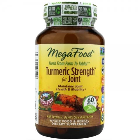 MegaFood - Turmeric Strength - Gewrichten Formulering -  60 tabletten