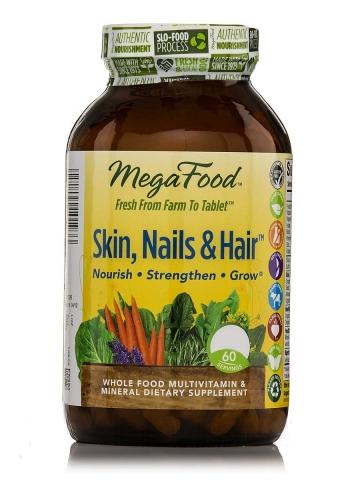 MegaFood - Skin, Nails & Hair Multivitaminen en Mineralen - 60 tabletten