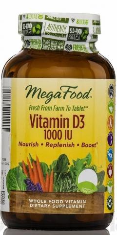 MegaFood - Vegetarische Vitamine D3 - 1000iu - 30 tabletten