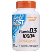 Doctor's Best - Vitamine D3 Softgels - 1000IE