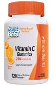 Vooraanzicht van Doctor's Best Vitamine C Gummies, 120 gummies met sinaasappelsmaak, 250 mg vitamine C per portie