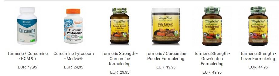Bekijk alle curcumine producten