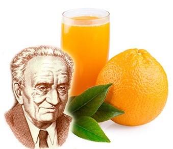 Sinasappel sap oude man